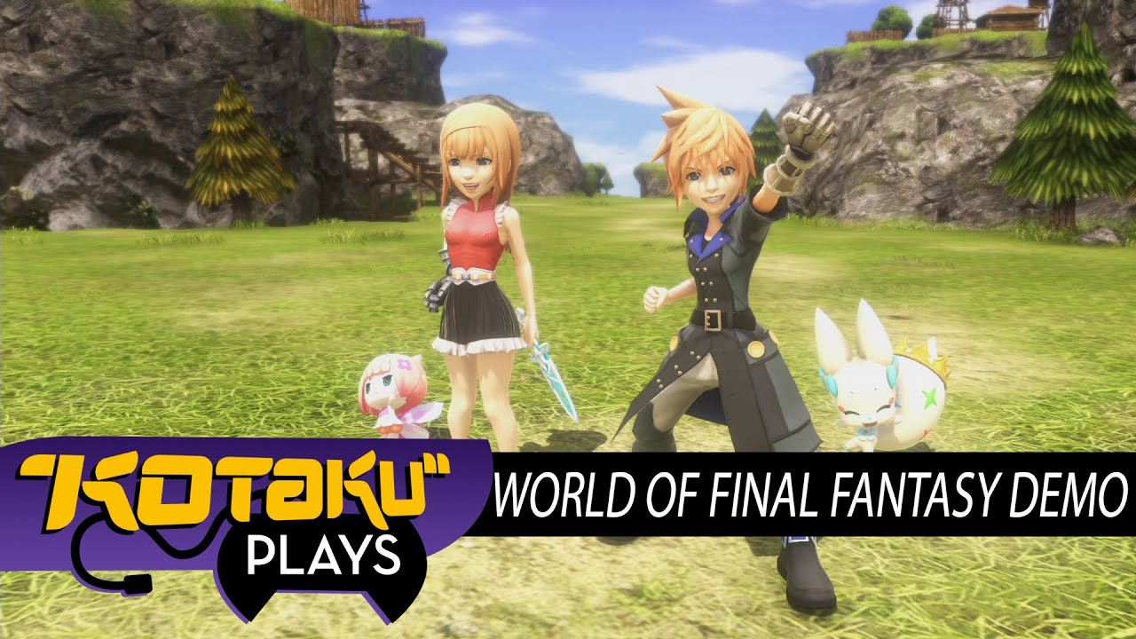 Kotaku Plays The World of Final Fantasy Demo