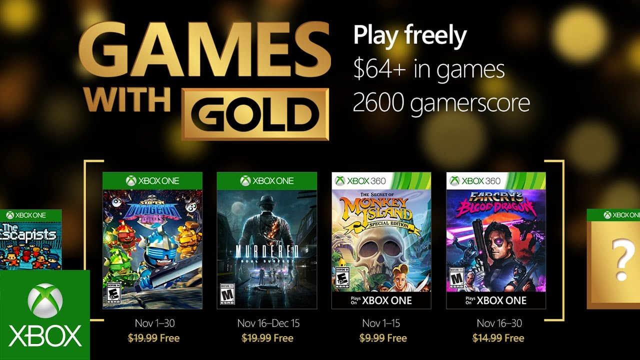 Xbox – November Games with Gold