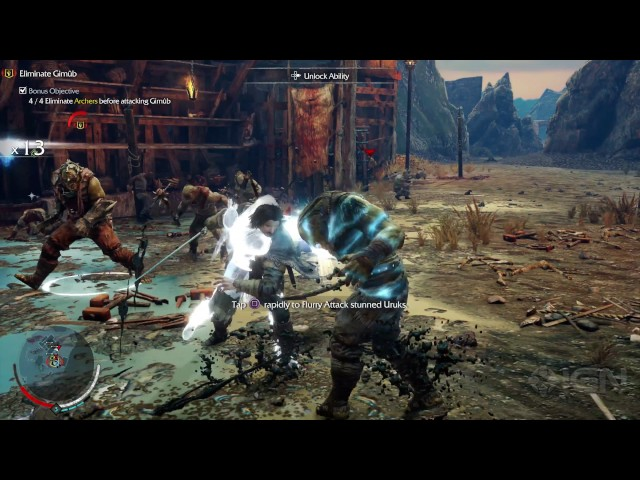 4K PS4 Pro: Shadow of Mordor – Taking Down the First Enemy Encampment