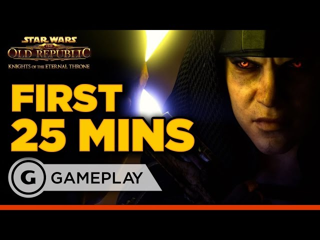 First 25 Minutes of Star Wars: The Old Republic – Knights of the Eternal Throne