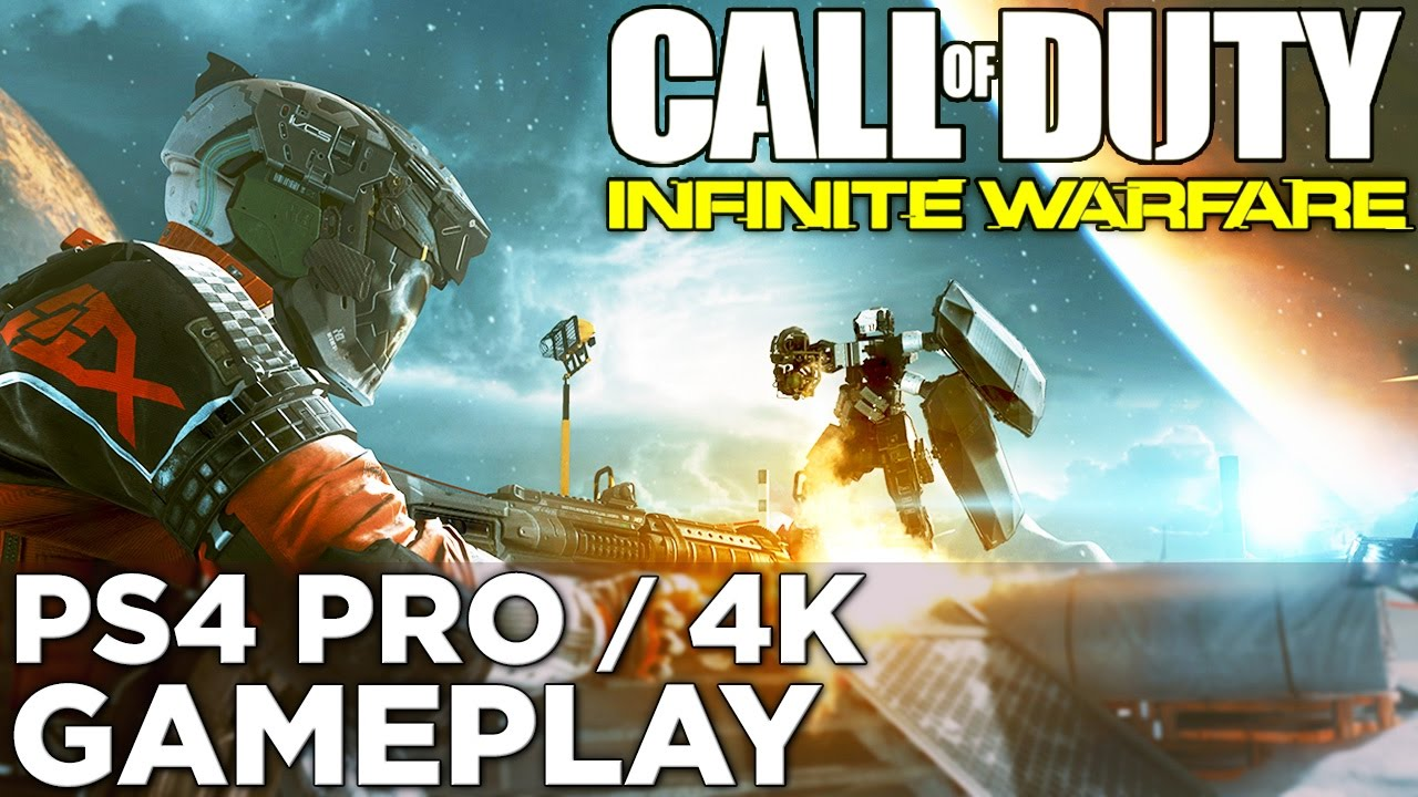 Call of Duty: Infinite Warfare in 4K! PS4 Pro GAMEPLAY of the First Level