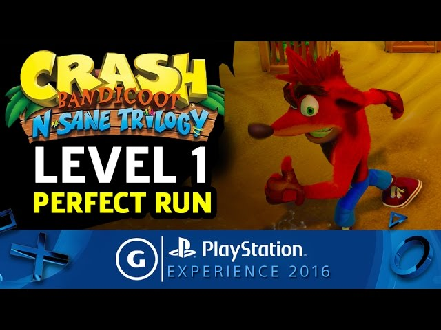Crash Bandicoot N. Sane Trilogy Level 1 Perfect Run