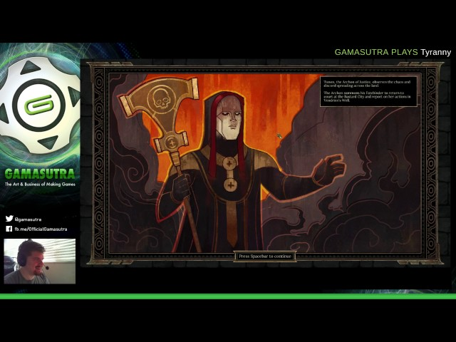 Gamasutra Plays Tyranny With Game Director Brian Heins Part 3