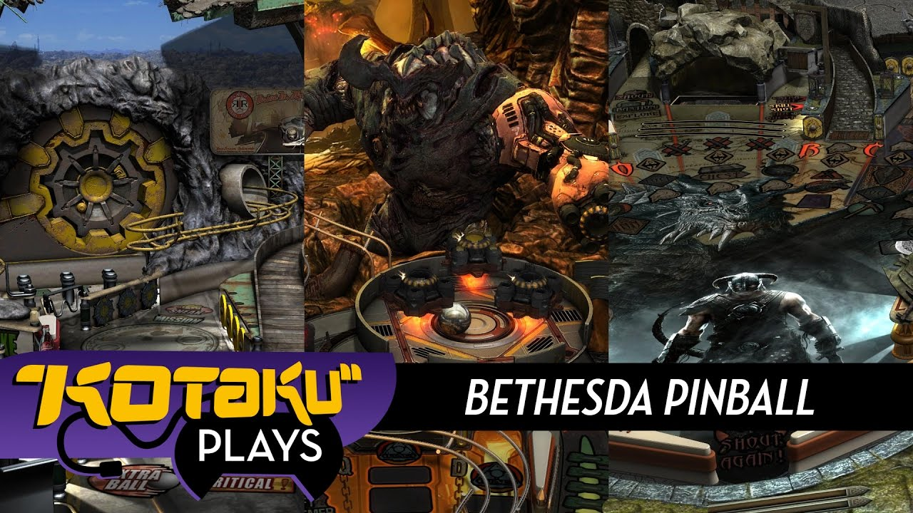 Kotaku Plays Doom, Skyrim And Fallout Pinball
