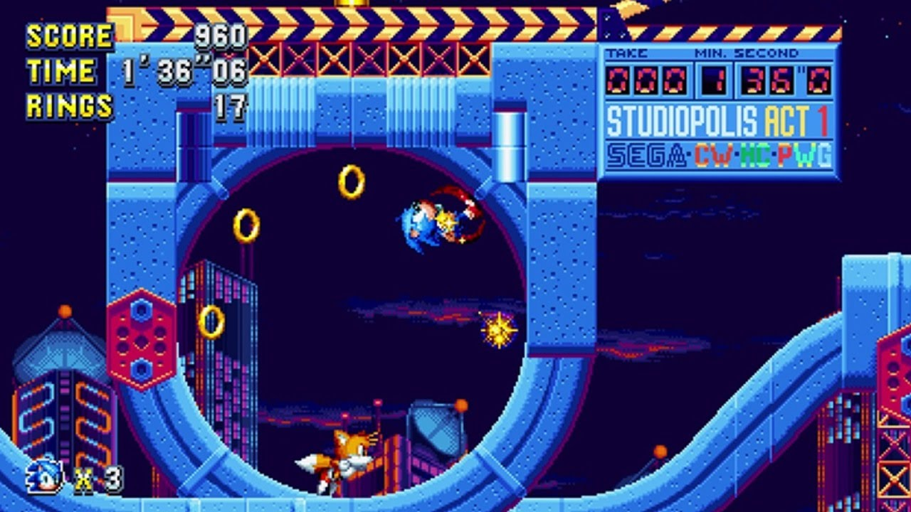 10 Minutes of Nintendo Switch Sonic Mania Gameplay