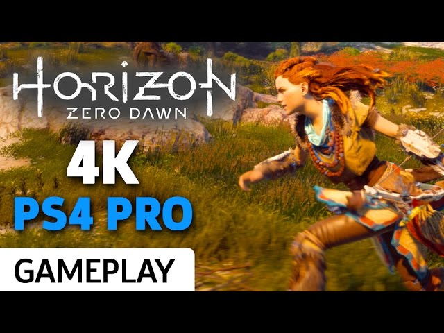 Horizon Zero Dawn 4K PS4 Pro Gameplay
