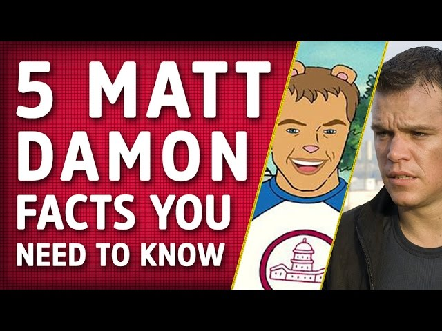 5 Matt Damon Facts You Need To Know