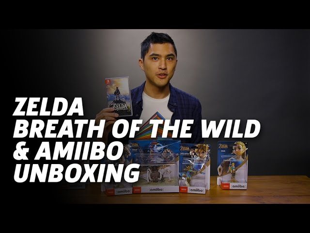Unboxing Zelda Breath Of The Wild And Amiibo Figures