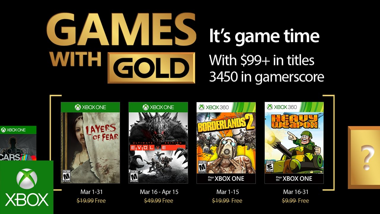 Xbox – March 2017 Games with Gold