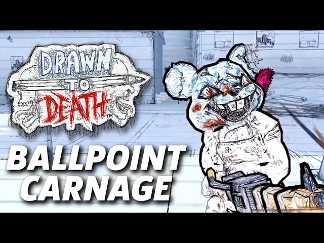 Drawn to Death – 3 Minutes Of Ballpoint Carnage Gameplay