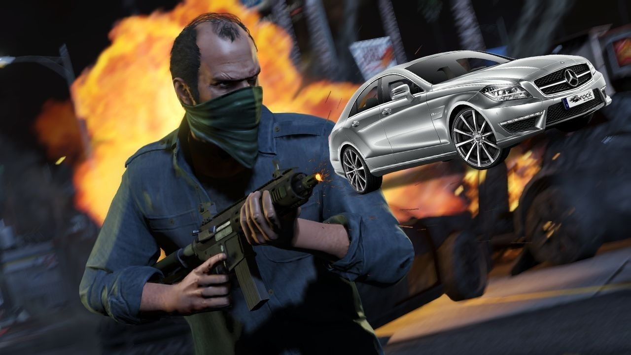 Grand Theft Auto 5 – Shooting Cars Out of Guns