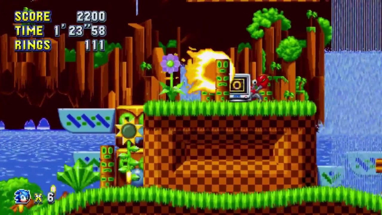 Sonic Mania Gameplay: Green Hill Zone Act 2 – PAX East 2017