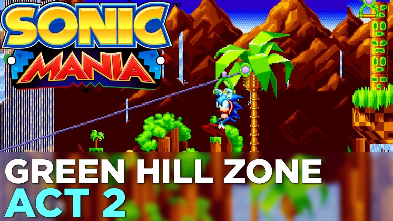 SONIC MANIA: Green Hill Zone Act 2 GAMEPLAY