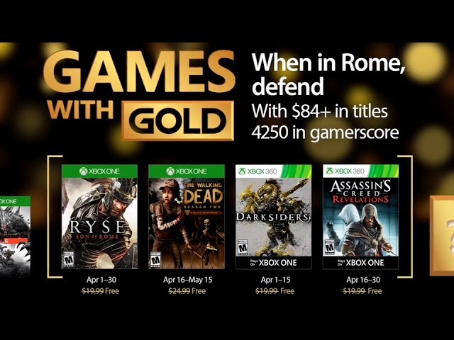 Xbox Games With Gold – April 2017