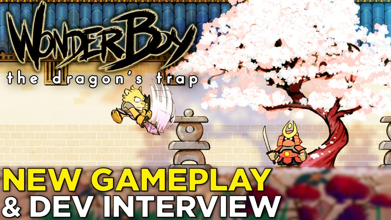 Wonder Boy: The Dragon's Trap — NEW PS4 GAMEPLAY from the Beautiful Remake @ GDC 2017