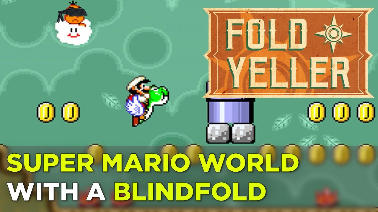 Simone & Russ play more Super Mario World (Blindfolded) – FOLD YELLER
