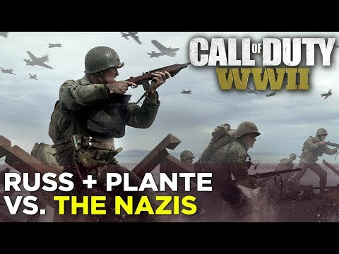 Russ + Plante fight Nazis in Call of Duty: WW2