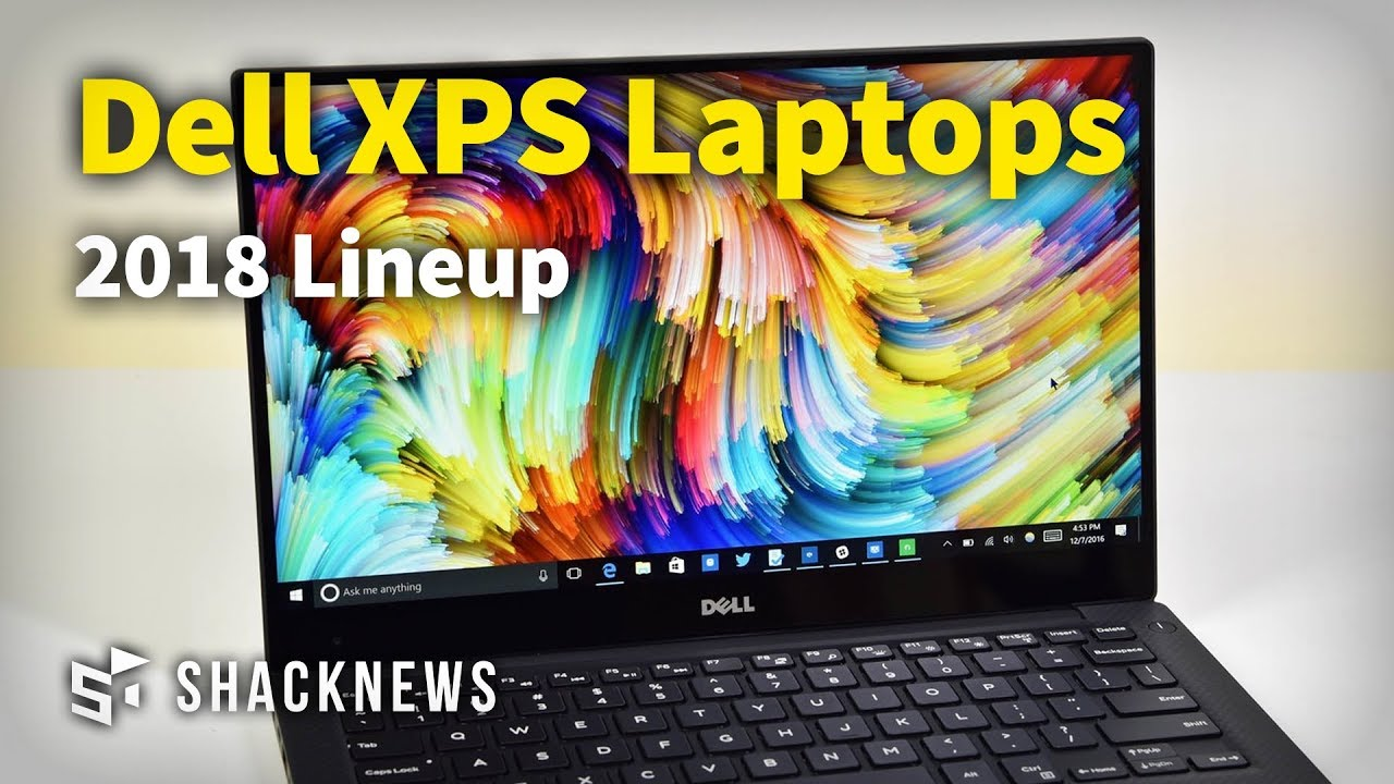 Dell XPS Laptop Lineup 2018