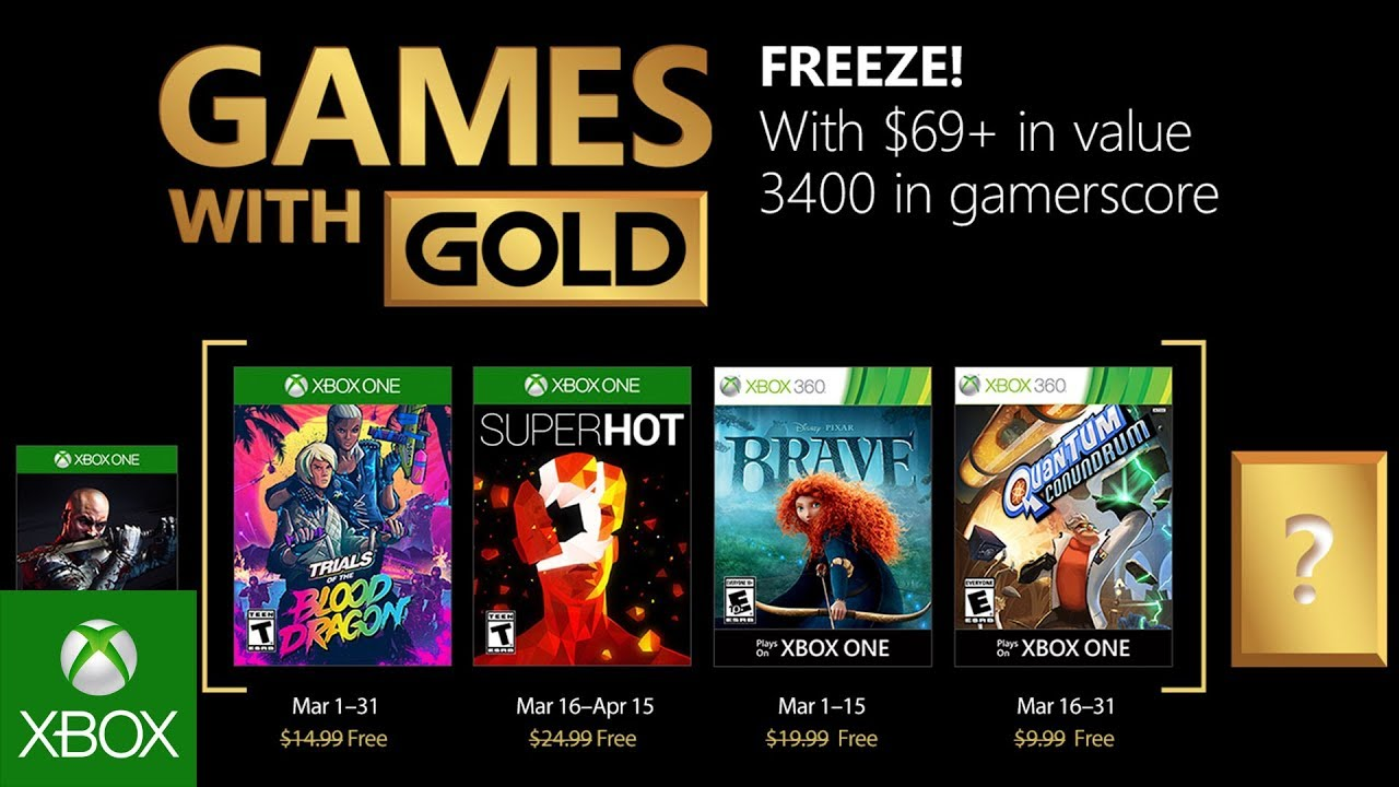 Xbox – March 2018 Games with Gold