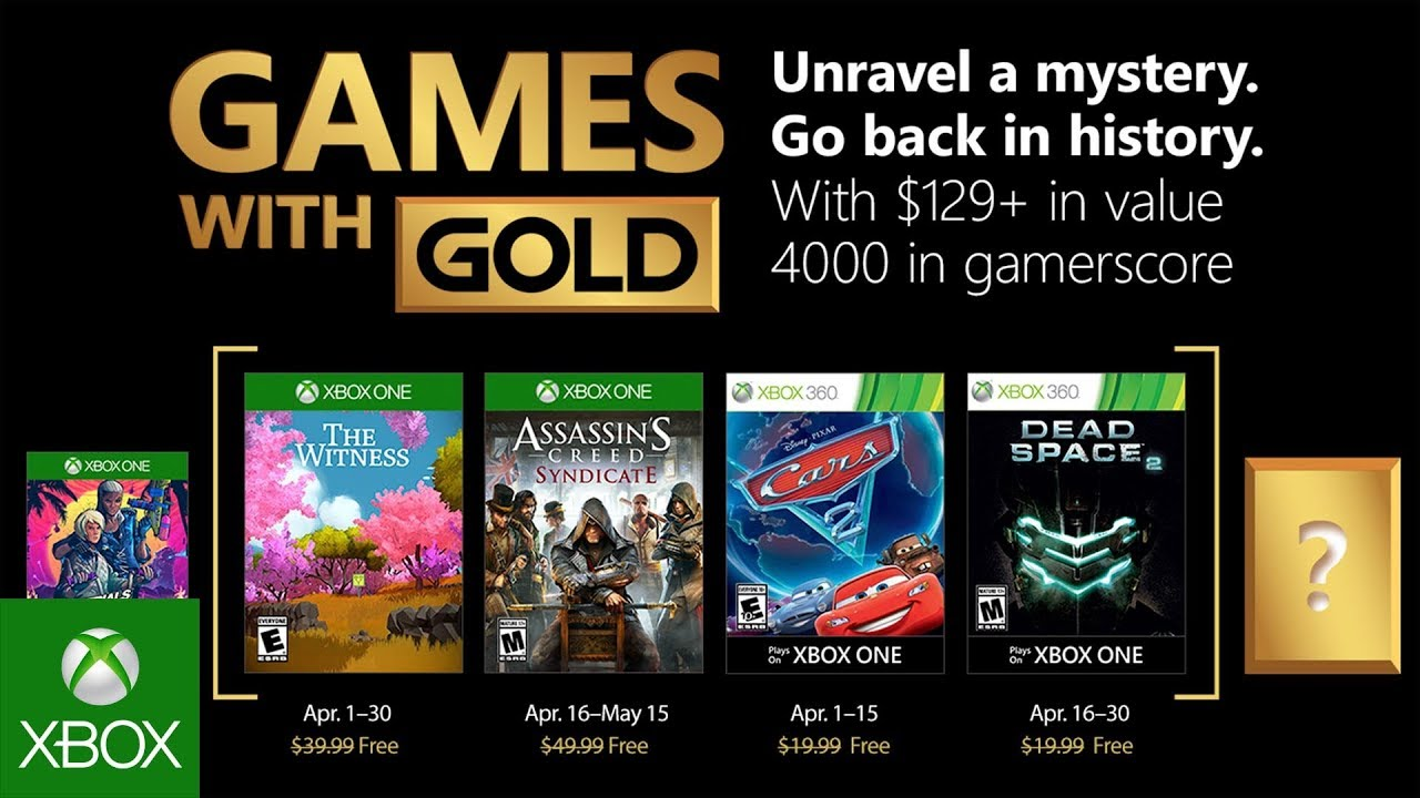 Xbox – April 2018 Games with Gold