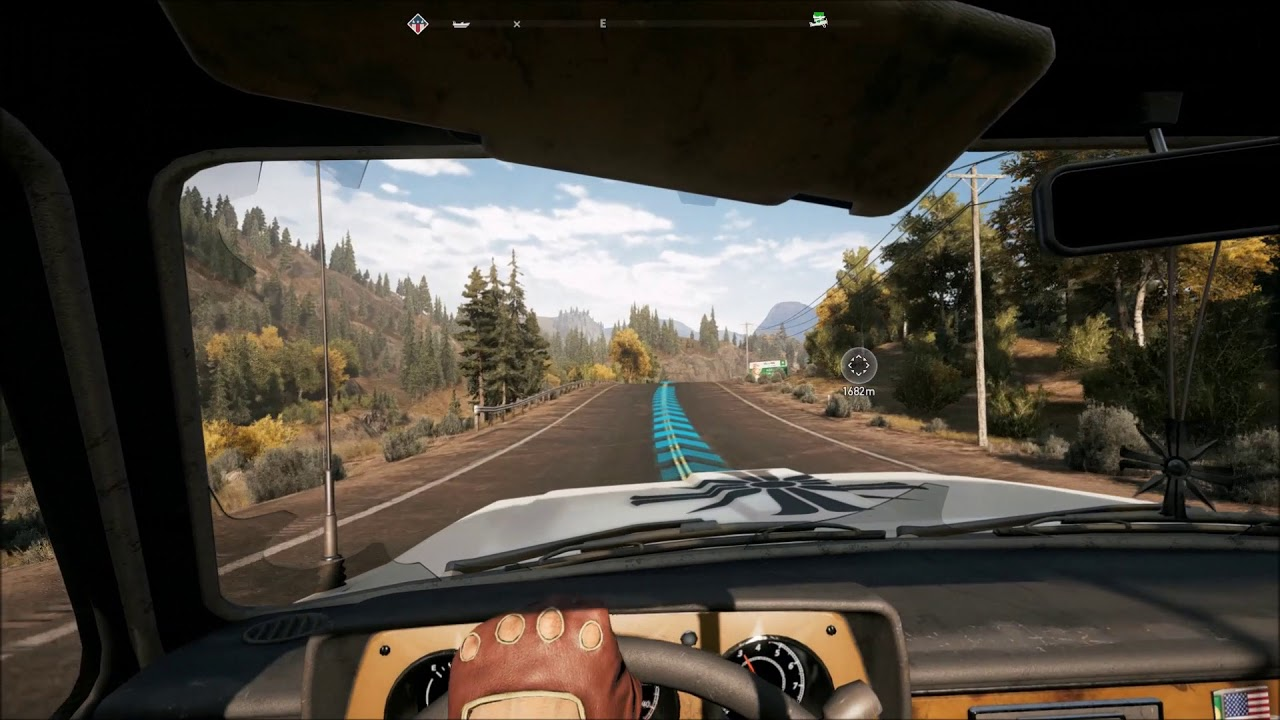 Far Cry 5 – Driving over people with For He's Our Shepherd playing