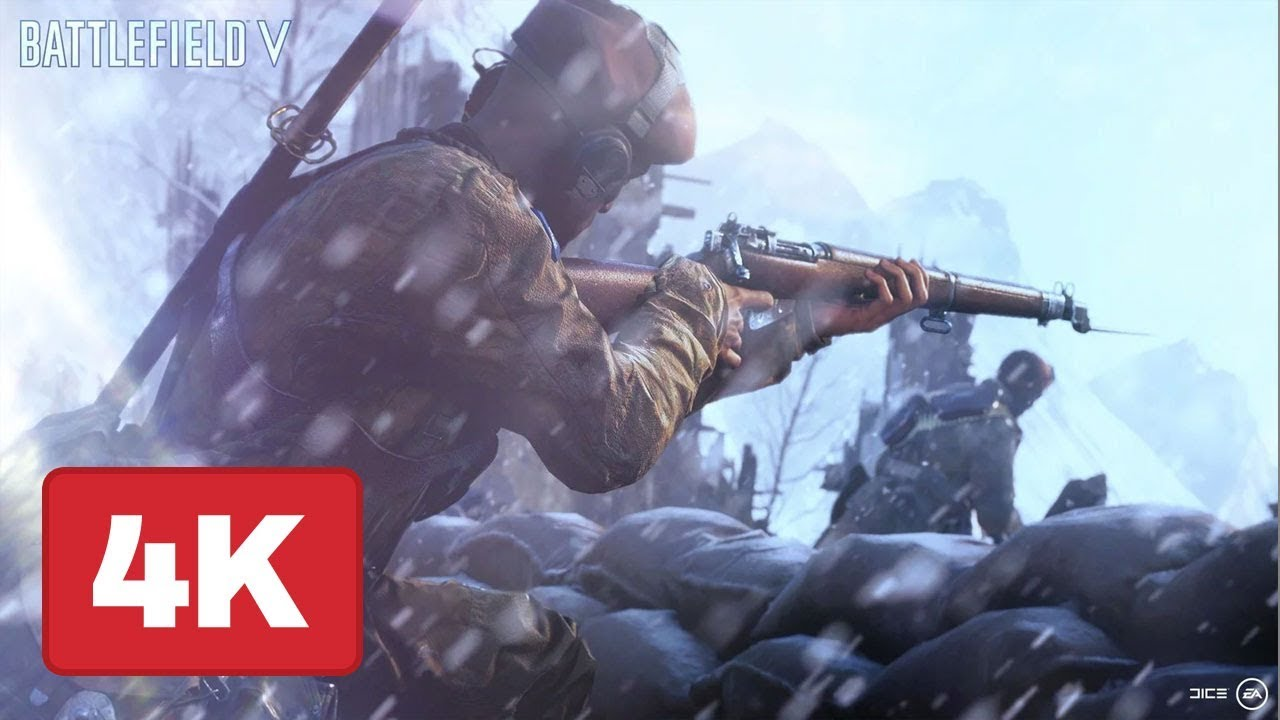 Battlefield 5: Sniper and Ground Combat Gameplay at 4K 60fps – E3 2018